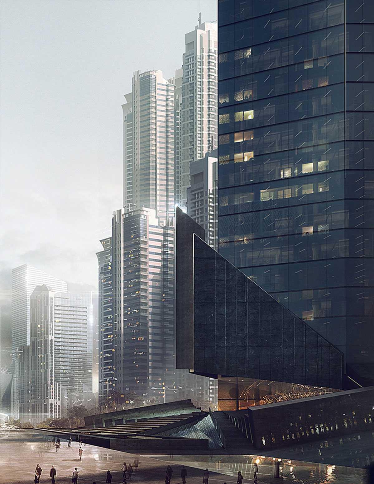 Остекление витражами зданий