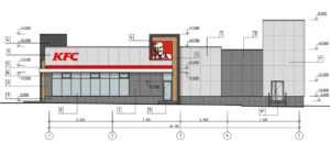 Проект фасада KFC